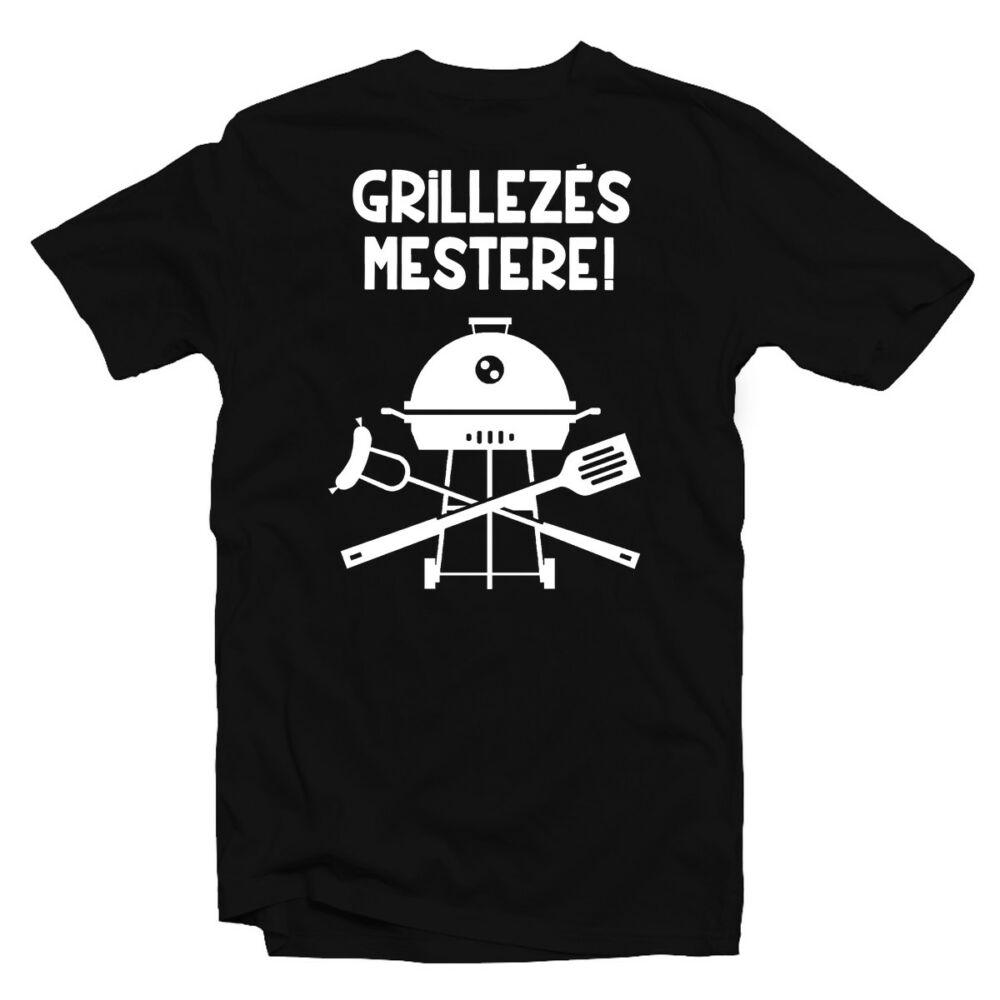 Grillezés Mestere Ajándék Póló Grill Rajongóknak
