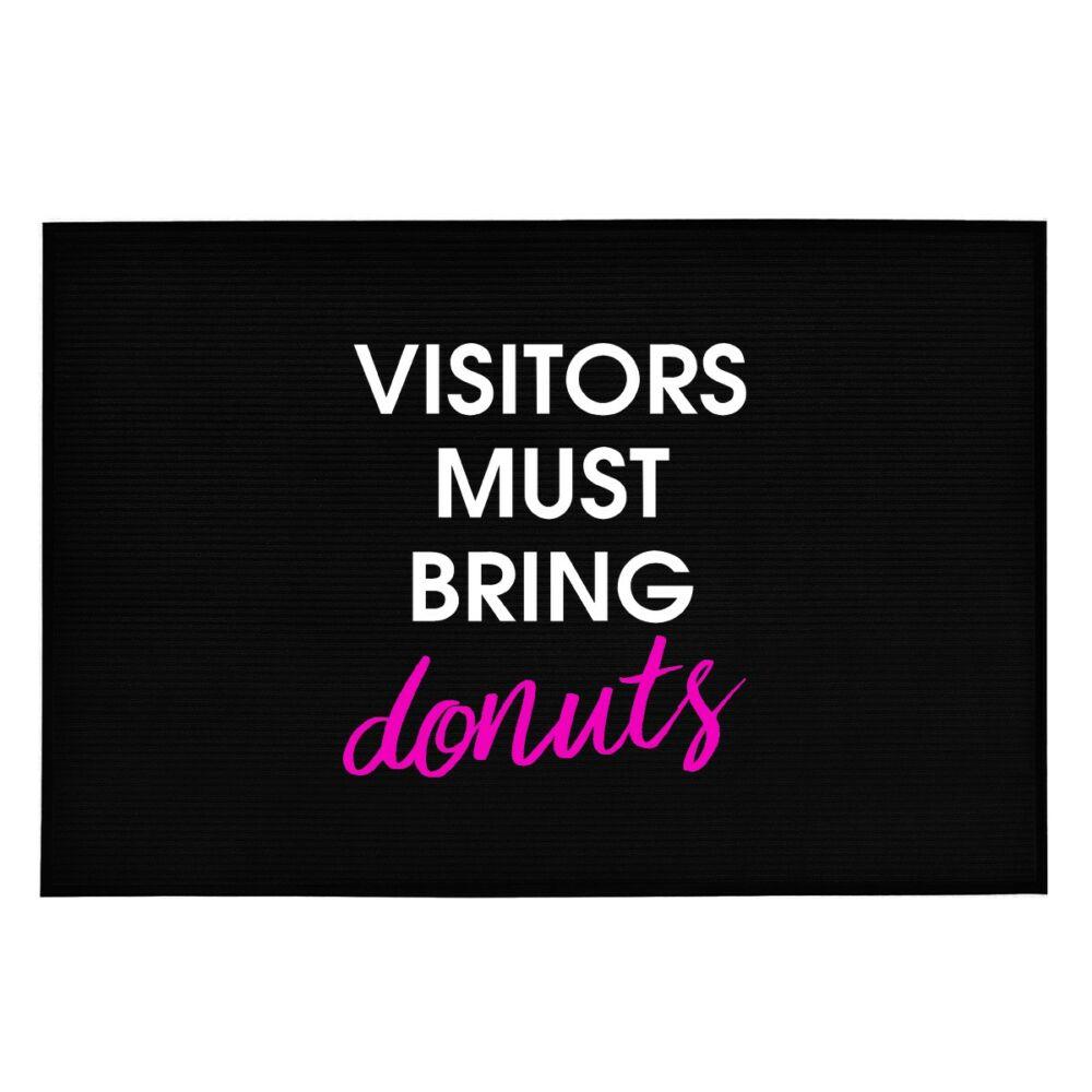 Visitors Must Bring Donuts' Vicces, Tréfás Lábtörlő