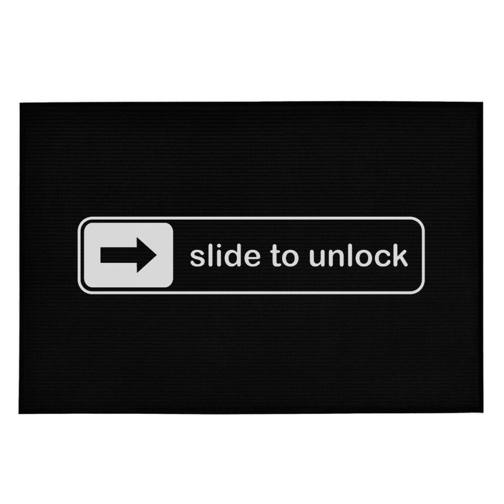 Slide to Unlock' Vicces, Tréfás Lábtörlő