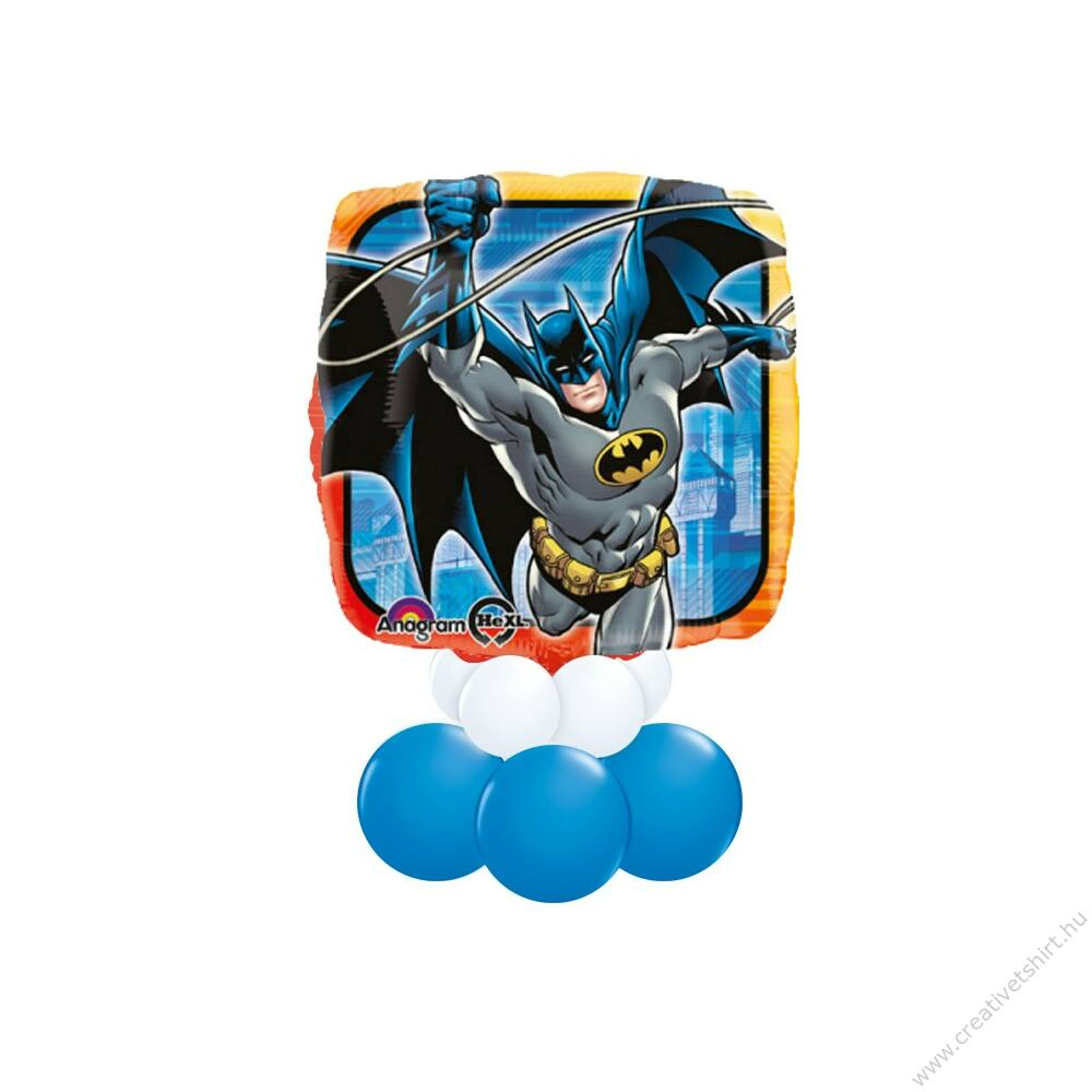 Batman Mintás Kék Fehér Ajándék Dekoráció Lufiból