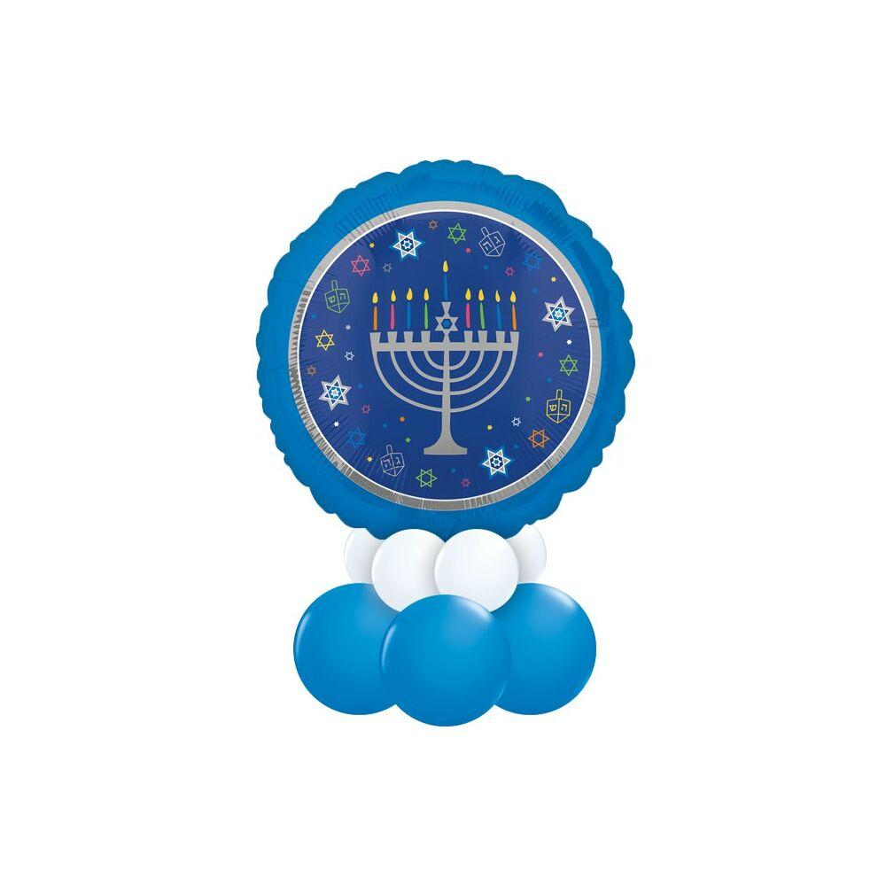 Hanuka - Hanukkah Fehér Kék Ajándék Dekoráció Lufiból Karácsonyra