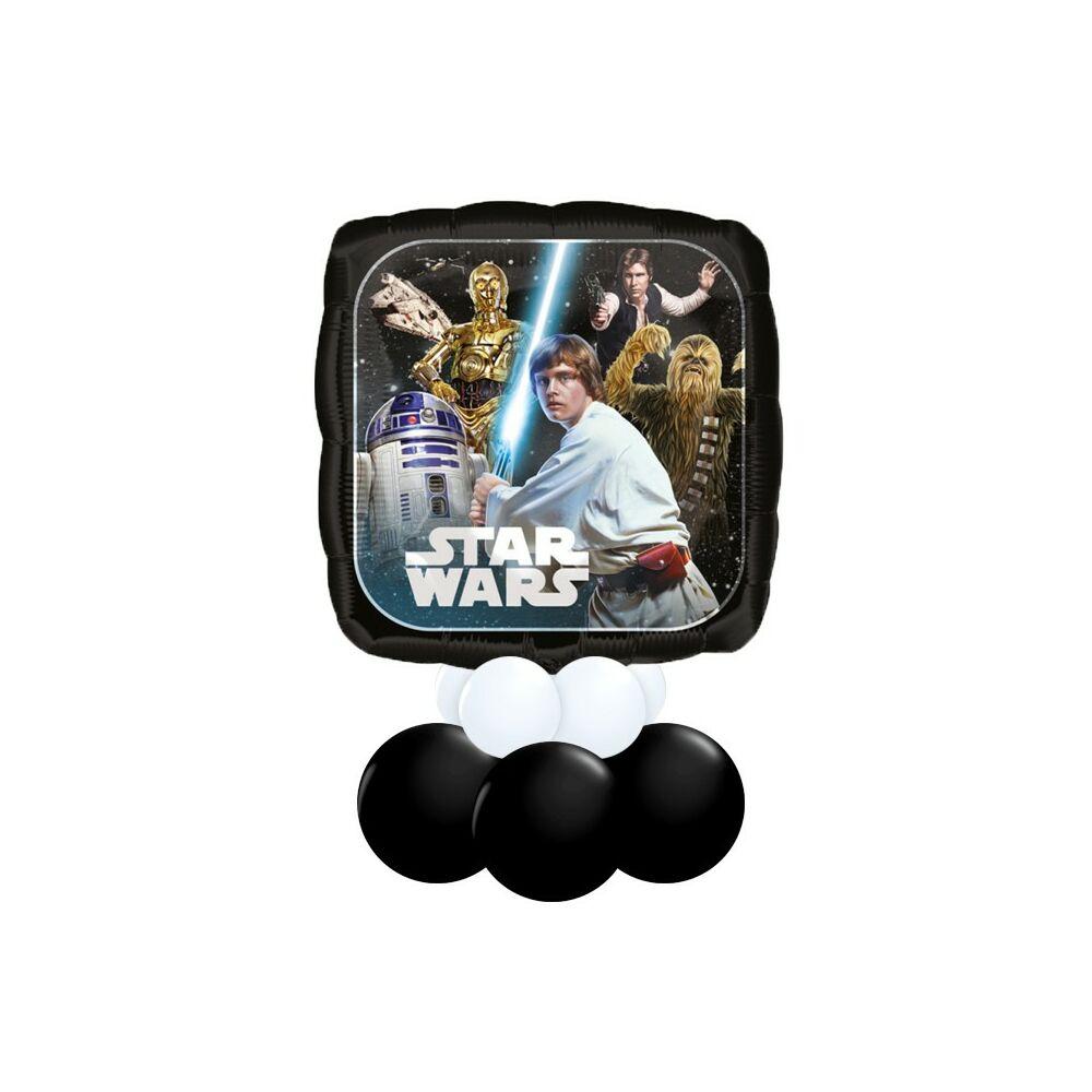 Csillagok Háborúja - Star Wars Mintás Fekete Fehér Ajándék Dekoráció Lufiból
