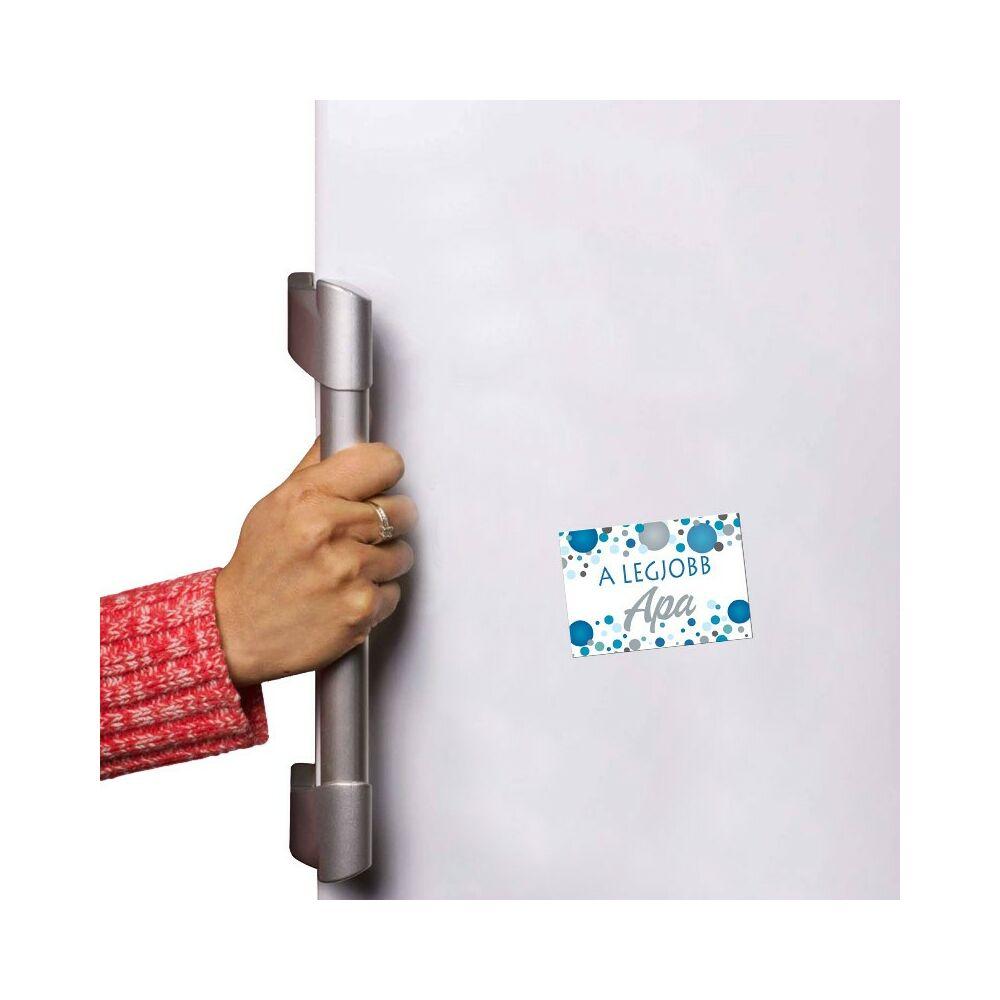 A Legjobb Apa Kék Pasztell Konfettis Hűtőmágnes