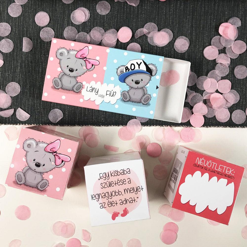 Pop Up Cube - Kirobbanó Meglepetés - Babaszületés: Kislány