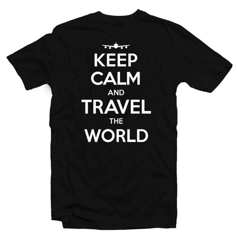 Keep Calm and Travel Utazós Feliratos Póló