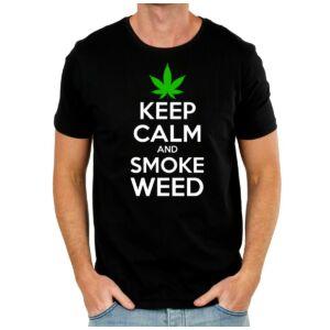 Keep Calm And Smoke Weed Póló 2