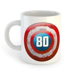 80 és a Legenda Folytatódik! Ajándék Szülinapi Bögre 2