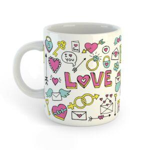 Szerelmes Ikonok Ajándék Bögre Valentin-napra 2