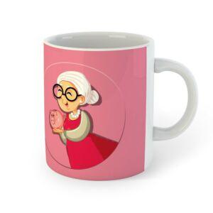 Mindent Tudok, Nyugdíjas Vagyok Rózsaszín Ajándék Bögre 2
