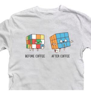 Előtte Utána - Rubik Kocka Vicces Póló 2