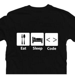Eat, Sleep, Code Geek Gamer Póló 2