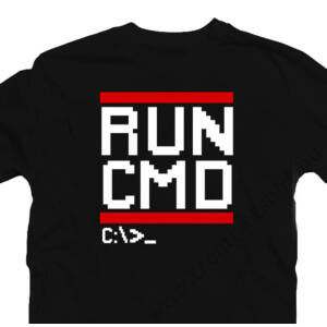 Run CMD Geek Gamer Póló 2
