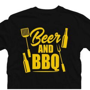 Beer and BBQ Ajándék Póló Grill Rajongóknak 2