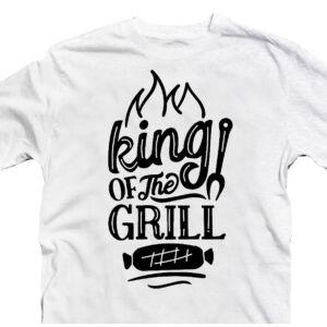 King of the Grill Ajándék Póló Grill Rajongóknak 2