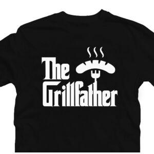 The Grillfather - Kolbász Ajándék Póló Grill Rajongóknak 2