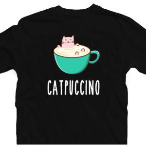 Catpuccino Ötletes Vicces Póló 2