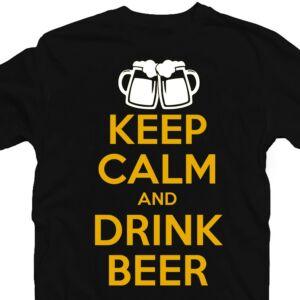 Keep Calm And Drink Beer Ajándék Póló 2