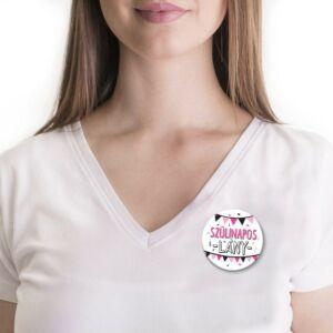 Szülinapos Lány Rózsaszín És Fekete Színű Ajándék Parti Kitűző Szülinapra 2