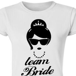 Team Bride Star' Feliratos Lánybúcsú Női Póló 2
