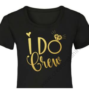 I Do Crew Diamond Ring Női Póló Lánybúcsúra 2