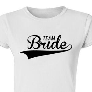 Team Bride Baseball' Feliratos Lánybúcsú Női Póló 2