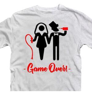 Game Over Páros' Legénybúcsú Party Póló 2