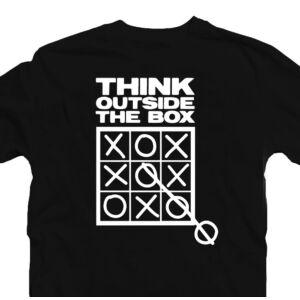 Think Outside the Box Motiváló, Idézetes Póló 2