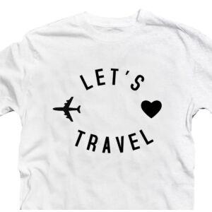 Let's Travel Utazós Feliratos Póló 2