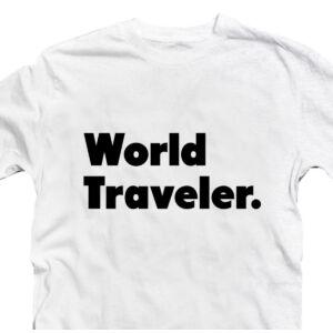 World Traveler. Utazós Ajándék Póló 2