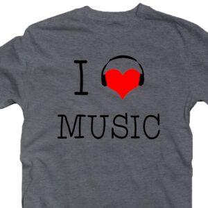 I Love Music Zenei Feliratos Póló 2