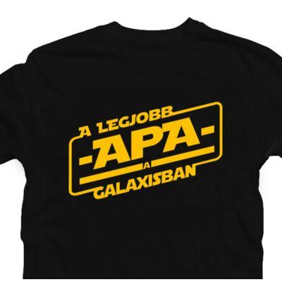 A Legjobb Apa a Galaxisban Ajándék Póló Apák Napjára 2