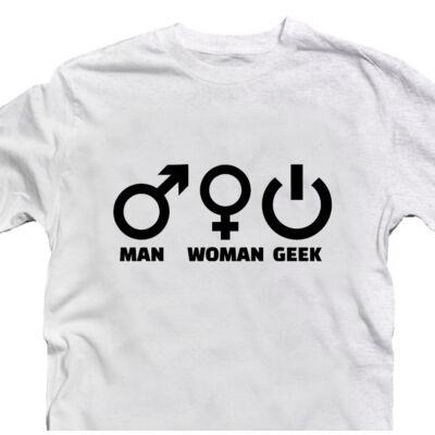 Man Woman Geek Gamer Póló 2