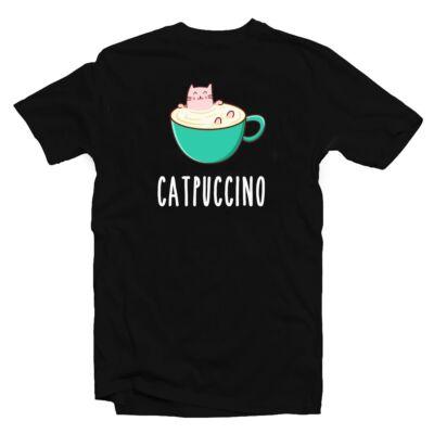 Catpuccino Ötletes Vicces Póló