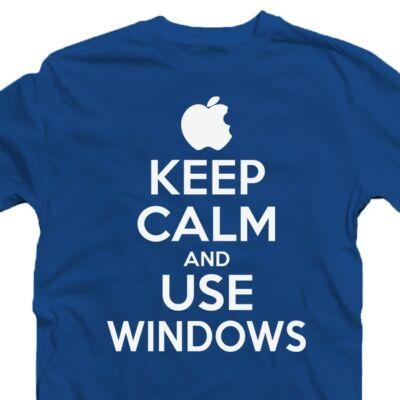Keep Calm And Use Windows Ajándék Póló 2