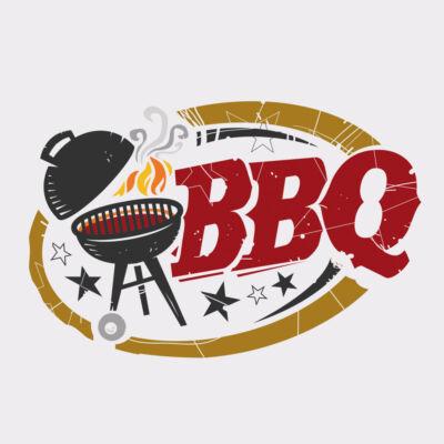 BBQ Fehér Színes Vicces, Tréfás Kötény Grillezéshez 2