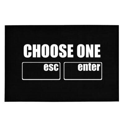 Choose One: Esc or Enter' Vicces, Tréfás Lábtörlő