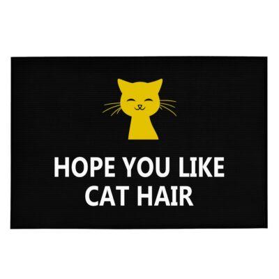 Hope You Like Cat Hair' Vicces, Tréfás Lábtörlő
