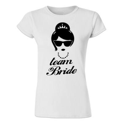 Team Bride Star  Feliratos Lánybúcsú Női Póló - Ruha és Pólónyomás ... 951d9fc104
