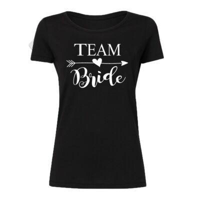 Team Bride Lady  Feliratos Lánybúcsú Női Póló - Ruha és Pólónyomás ... 631e455d2f