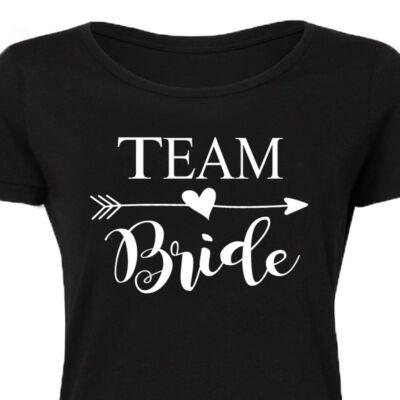 Team Bride Lady' Feliratos Lánybúcsú Női Póló 2