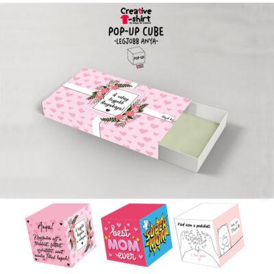 Pop Up Cube - Kirobbanó Meglepetés - Anyunak