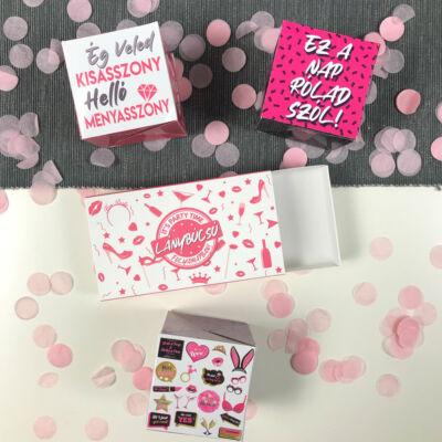 Pop Up Cube - Kirobbanó Meglepetés - Lánybúcsúra