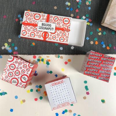 Pop Up Cube - Kirobbanó Meglepetés - Szülinapra Sebességkorlátozó Mintával