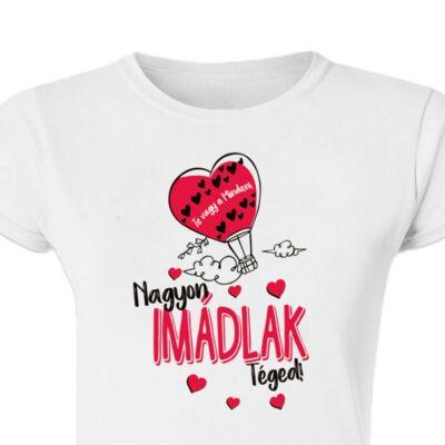 Nagyon Imádlak Téged Ajándék Póló Valentin-napra 2
