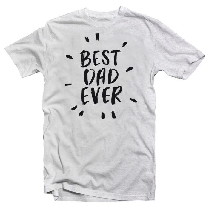 Best Dad Ever Ajándék Póló Apák Napjára