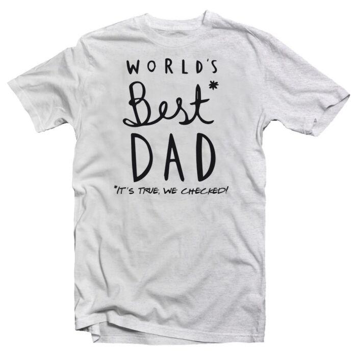 World's Best Dad Ajándék Póló Apák Napjára