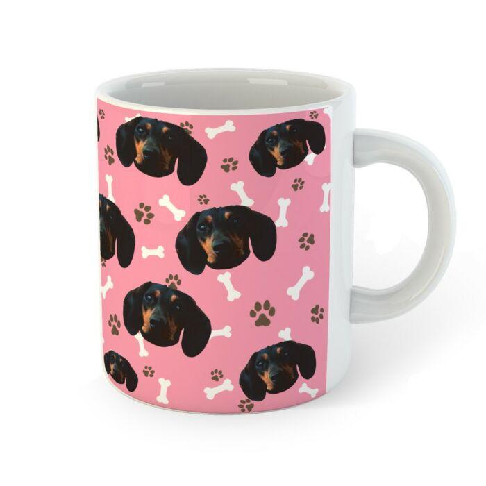 Egyedi Kutya Mintás Bögre - Pink