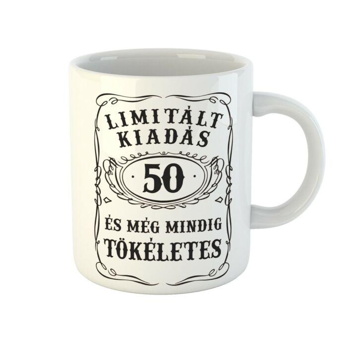 Limitált Kiadás - 50. Születésnapra Ajándék Bögre