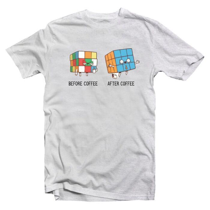 Előtte Utána - Rubik Kocka Vicces Póló