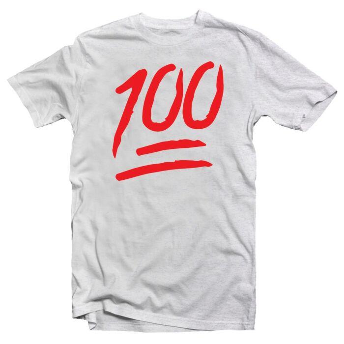 """""""100"""" Emoji Vicces Póló"""